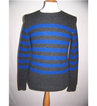 Gap - size: S, grey and blue striped jumper