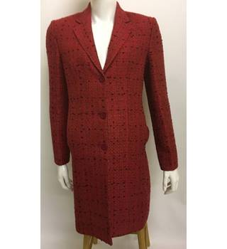 Coates Couture size M red with black smart coat