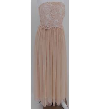 BNWT Little Mistress Size 8 Peach Blush Evening Dress