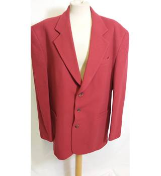 "Willson Tailoring red wool single breasted blazer 40"" Willson Tailoring - Size: L - Red"