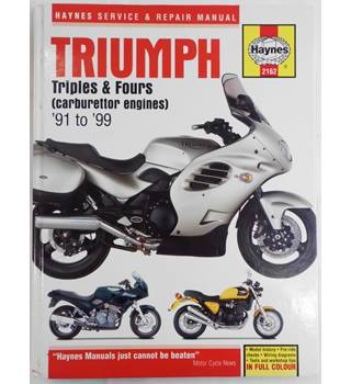 Triumph Triples & Fours (Carburettor Engines) '91 to '99
