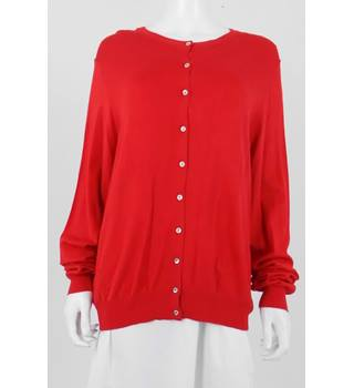 M&S Collection Size 20 Bright Red Cardigan