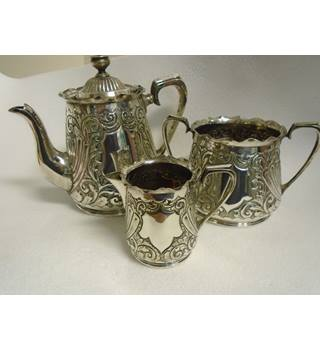 Tea Set.  3 piece.  George Bowen & Sons EPNS George Bowen & Sons