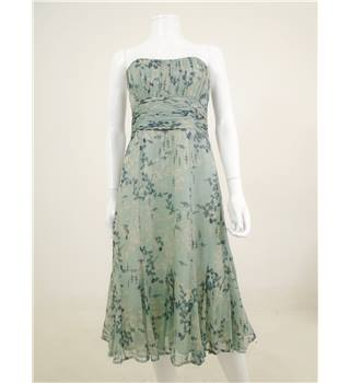 Coast size 10 Green Floral Strapless Dress