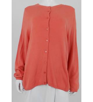 M&S Classic Size 20 Light Coral Cardigan