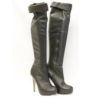 Ladies Over the Knee Black Boots Size 6.5