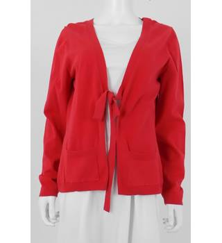 Monsoon Size 14 Pilarbox Red Edge to Edge Cardigan