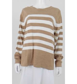 M&S Collection Size 18 Camel/Cream Striped Jumper