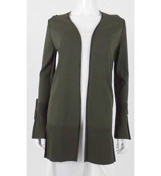 M&S Collection Size M Sage Green and Gold Cardigan