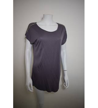 Warehouse size 12 Grey/Brown Top Warehouse - Grey - Batwing top