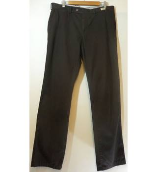 "Tommy Hilfiger - Size: 36""/34"" - Dark Brown - Men's Trousers"