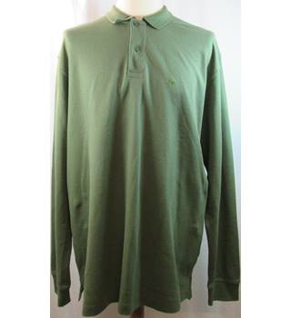 Samuel Windsor - Size: XL - Olive Green Long Sleeve - Polo shirt