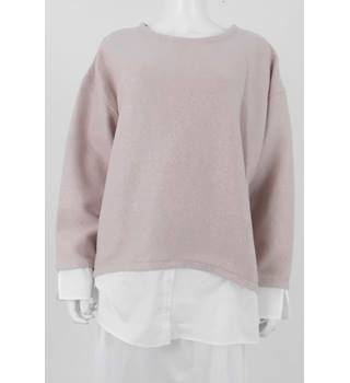 M&S Collection Size 22 Pale Pink Blouse & Jumper Piece
