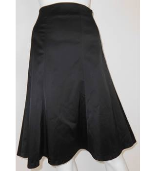 Coast Size 16 Deepest Black Panelled Satin Evening Skirt