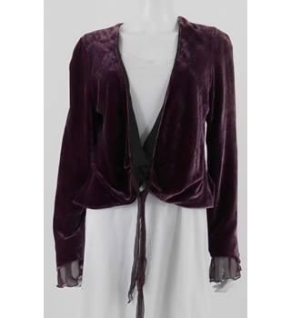 Stills Size 12 Purple Velvet Wrap Blouse