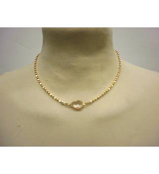 NEW - Sterling Silver and Gold Plated Necklace with Pendant Unbranded - Size: Medium - Metallics - Pendant