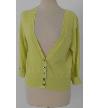 M&S Size 12 Canary Yellow Cashmere Cardigan