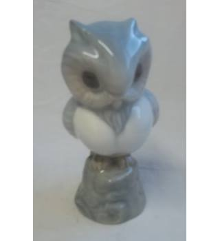 Vintage Spanish Miguel Requena Porcelain Figure Of An Owl