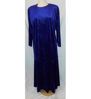 Windsmoor purple/Blue Velvet dress & Jacket Windsmoor - Size: 10 - Purple - Full length dress