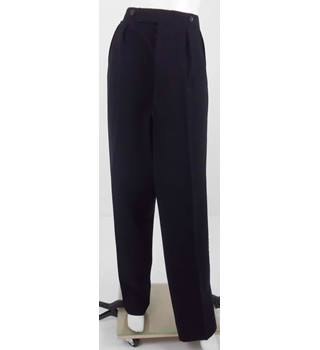 "Vintage Unbranded 34-35"" Black High Waisted Trousers"