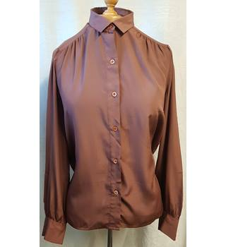 Rodier Paris - Size: S - Brown - Long sleeved shirt