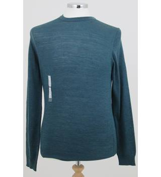 NWOT M&S Collection, size XXL teal merino wool jumper