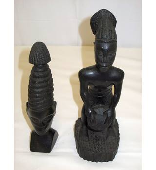 Two Vintage Ethnic Tribal Carvings