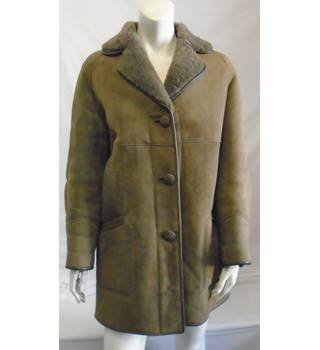 Sheepskin Jacket - Size: 14 - Beige - Smart Sheepskin Jacket
