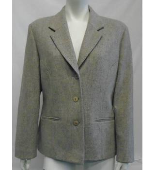 Slimma - Size: 16 - Oatmeal/White Pattern - Jacket