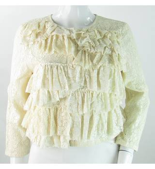 BNWT Topshop - Size: 10 - Cream - Lace Trimmed Jacket
