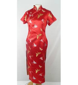 As new Golden Dragon  size M approx 12  long red cheongsam