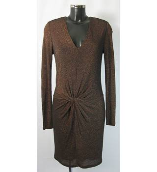 BNWOT Ted Baker Dress - Metallic Bronze - Size 10/12  Ted Baker Size 2