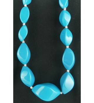 Women's Statement Turquoise and Silver Coloured Necklace