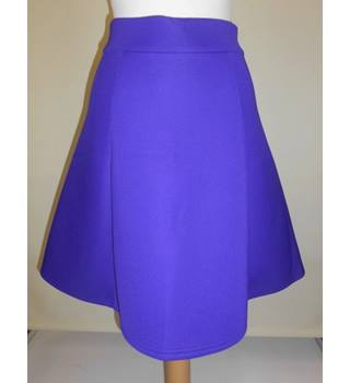women's Per Una - Size: 16 - Purple - Knee length skirt