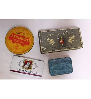 Set of four vintage tins