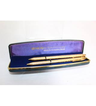 Set Of two Gold plated Simscrip Pens