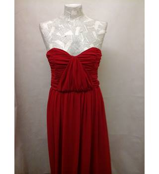 ASOS - Size: 10 - Red strapless long party dress