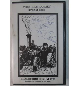 The Great Dorset Steam Fair 1990 VHS- Signed by Fred Dibnah Non-classified