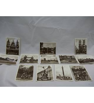 Twelve glossy 3 X 4 Black and White Prints of Popular London Scenes