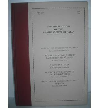 The Transactions of the Asiatic Society of Japan, Third Series Vol 19 June 1984
