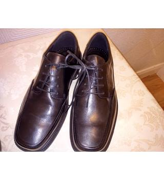ECCO Black Leather Business Shoes ECCO - Size: 7 - Black