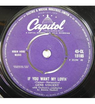 If You Want My Lovin' / Mister Loneliness Gene Vincent CL 15185