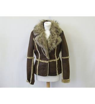 50% OFF SALE Baby Phat Sheepskin Style Jacket Baby Phat - Size: S - Brown - Jacket
