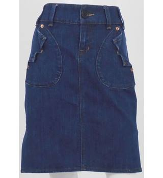 Whistles Blue Denim Mini Skirt UK Size 8 / Euro Size 36