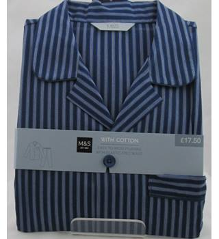 NWOT M&S, size XXL blue striped pyjamas