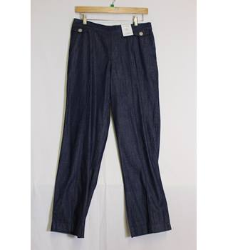"M&S Classic Size 10 Blue Trousers M&S Marks & Spencer - Size: 26"" - Blue - Trousers"