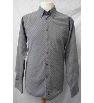 Foxhole 1845 - Size: M - Grey - Long sleeved Checked Shirt