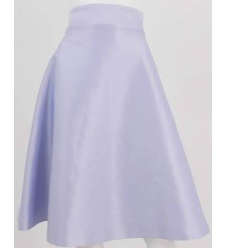 BNWT Vesper Lilac Satin Knee-Length Skirt with Bow Back Size 8