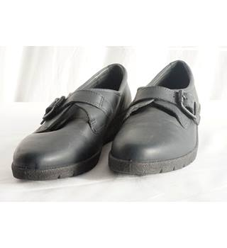 ECCO Blue Black Casual Loafers in Size 41 (UK 7/8)