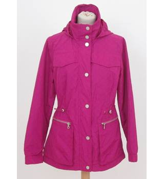 NWOT M&S Collection size 14 magenta purple waterproof hooded jacket